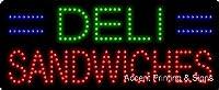 Deli Sandwiches Flashing &アニメーションLEDサイン( High Impact、エネルギー効率的な)