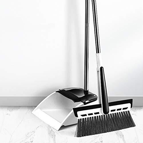 JKYQ Besen und dustboard Scraper Satz 360 ° rotierende Kehrschaufel Verlängert Borste Besen Eindickung Stange DREI in einem Besen Bodenreinigungswerkzeug