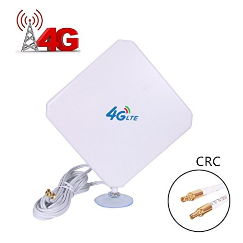 URANT CRC9 High Gain 35dBi 3G 4G LTE Antenna Dual Mimo Network Ethernet Outdoor Antenne Signal Receiver Booster Amplifier for WiFi Router Mobile Broadband(CRC)