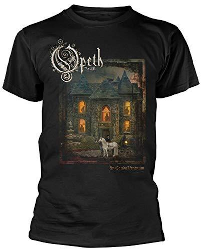 SHUBIAO Mens T-Shirt Opeth in Cauda Venenum T-Shirt Short Sleeve Crewneck Tee Black s