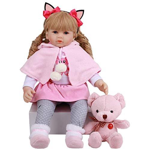Xiangrun Muñecas de bebé Reborn realistas, 60 cm, Tela de Vinilo de bebé Realista, Tela de Silicona para el Cuerpo, Juguete para el Cuidado del bebé, Regalo para niño y niña