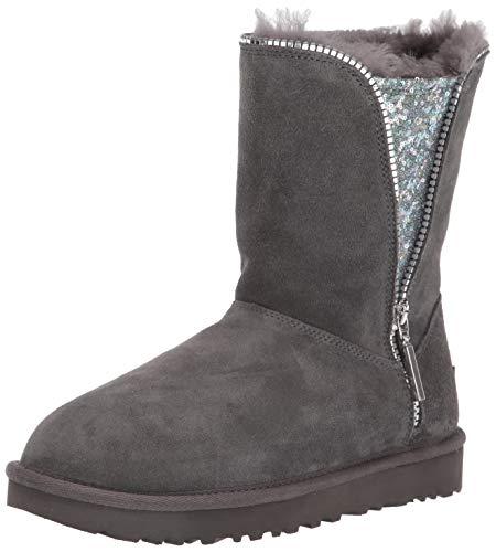 UGG Damen W Classic Zip Boot Hohe Stiefel, Grau (Charcoal Chrc), 37 EU