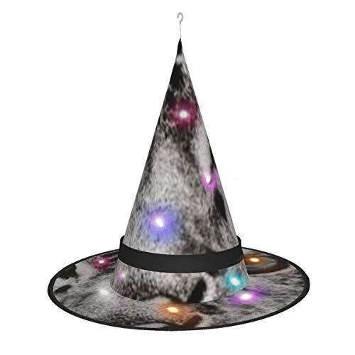leyhjai Tigre Blanco Colgante Iluminado Brillante Bruja Sombreros Accesorio de Disfraz de Halloween para Fiesta de Halloween Mascarada Cosplay