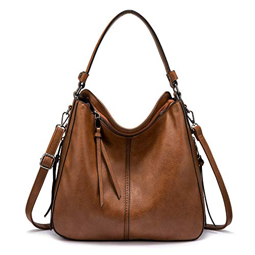 🔥🔥【Fashion Hobo Bag】: featuring elegant Gun-Metal tone hardware, classic hobo style, and the lively side tassel delivers much elegance. It's a gorgeous, fashionable and practical purses handbags for women. 🔥🔥【Superior Material】: made of soft and dura...