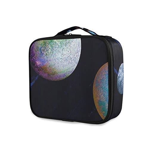 SUGARHE Bunte Aquarell Planeten auf dunklem purpurrotem Universum Hintergrund Raum,Kosmetik Reise...