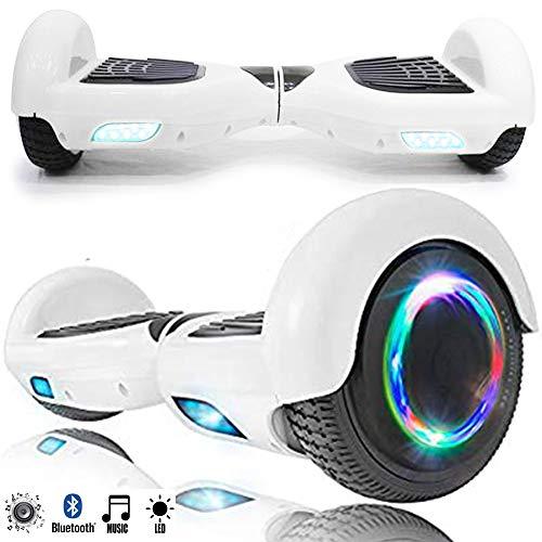 Magic Vida Skateboard Électrique 6.5 Pouces Bluetooth Puissance 700W avec Pneu à LED...
