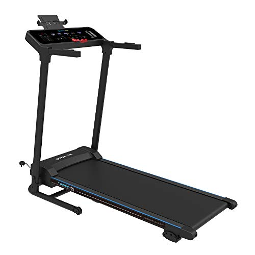 Fit4home Treadmill for Home | Foldable Electric Motorised Digital Running Walking Machine | Bluetooth MP3 LED Display Cardio Exercise Fitness Workout Machine | 99% Pre-Assembled Eco Safe 5