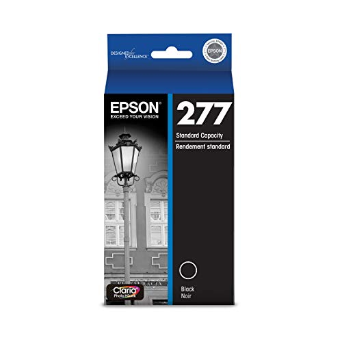 EPSON T277 Claria Photo HD Ink Standard Capacity Photo Black Cartridge (T277120-S) for Select Epson Expression Printers