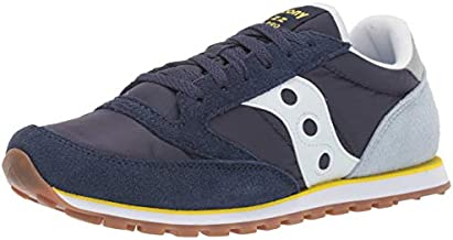 Saucony Men's Jazz Lowpro Sneaker, blue/light blue/yellow, 14 M US