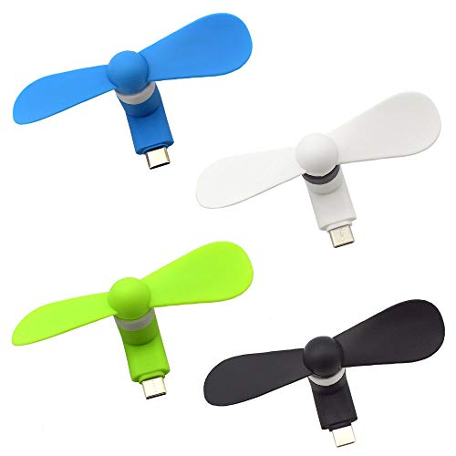 USB Type C Mini Fan,Portable Mobile Phone Cool Fan,Appliable for Samsung Galaxy Note 8 Note9 A10 A9 Star A9s A8s A8+ A6s,Moto G7 G6 LG Stylo 4 Xiao mi Mi A2 Mi 8 Huawei P30 and More
