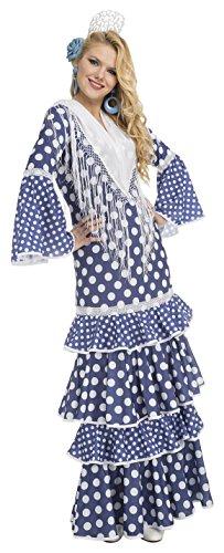 My Other Me Me-204378 Disfraz de flamenca alvero para mujer, color azul, M-L (Viving Costumes 204378)