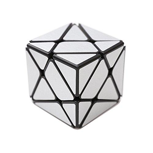Wings of Wind - Irregular Cubo mágico 3x3, Cepillado Etiqueta Cubo de Velocidad YongJun cambiante y más desafiante Puzzle Cube (Plata)