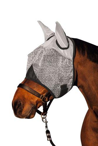 Kerbl 324516 Fliegenmaske mit Ohren-und UV-Schutz, weiß, Cob