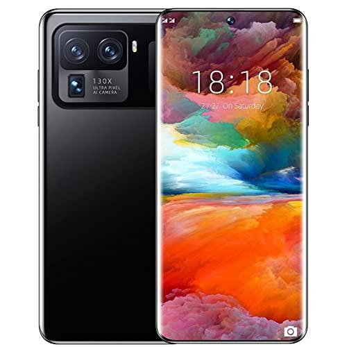JANEFLY 7.3 Pulgadas M11 Ultra Smart Phone 5G 16GB+512GB 6800mAh 64MP Camera, Dual SIM+Micro SD Teléfonos celulares con identificación de Huellas Dactilares Android Teléfonos móviles,Black