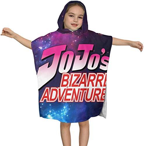Jo-jos Bi-zarre Adven-ture Premium Strandtuch mit Kapuze für Kinder Jungen Mädchen 2 bis 7 Jahre, schnell trocknende Bad- / Billardtücher Super Absorbent Hooded Poncho , 23,7 x 23,7 Zoll