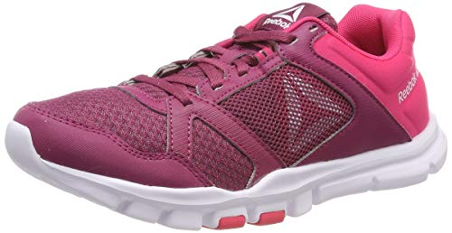 Reebok Damen Yourflex Trainette 10 Mt Fitnessschuhe, Mehrfarbig (Twisted Berry/Twisted Pink/White 000), 39 EU