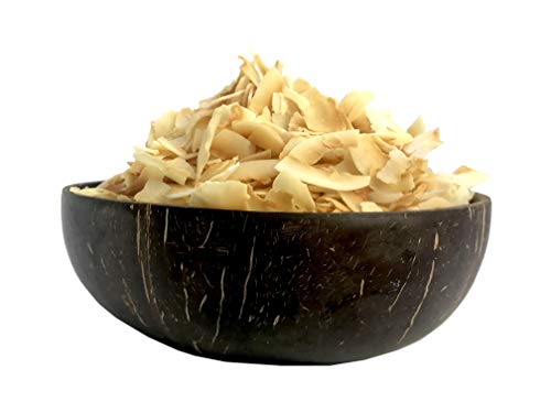Amrita Coconut Chips Unsweetened 16 Oz - Packed Fresh in Resealable Bulk Bags - Non GMO - Coconut Chips Allergy Free - Natural Coconut Flakes - Coconut Chip Treats - Superfood Coconut