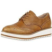 SCARPE VITA Mujer Zapatos Abotinados Zapato con Plataforma 160658 marrón Claro 37