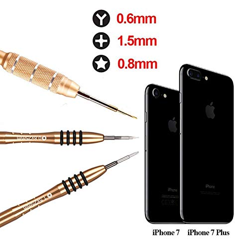 16Pcs Cell Phone Repair Tool Kit - Screwdriver Set Kit for iPhone Apple 8 8 Plus 7 7 Plus 6S 6 Plus SE 5S 5 5C 4S Opening Pry Tools for iPhone X/SE,iPod,Phillips Screwdriver Star Pentalobe,Y Tri-Point