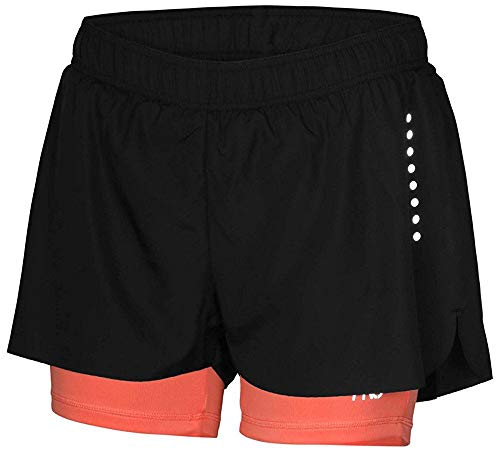 Crivit Pro TOPCOOL Women's Performance Active Shorts Running Trousers Black Coral Small