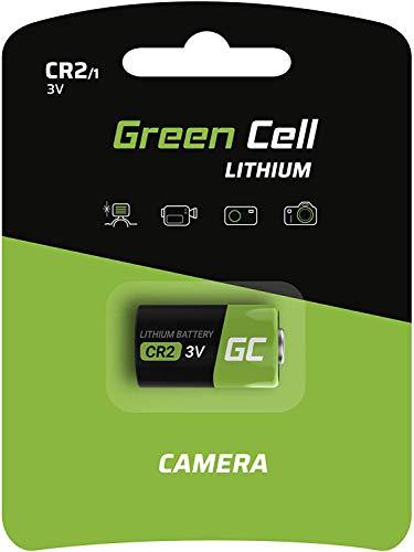 Green Cell Batteria CR2, (CR 2 / CR-2 / CR15H270 / 5046LC) Batteria al Litio Non Ricaricabili per Flashlight, Fotocamera Digitale, Videocamera, Giocat