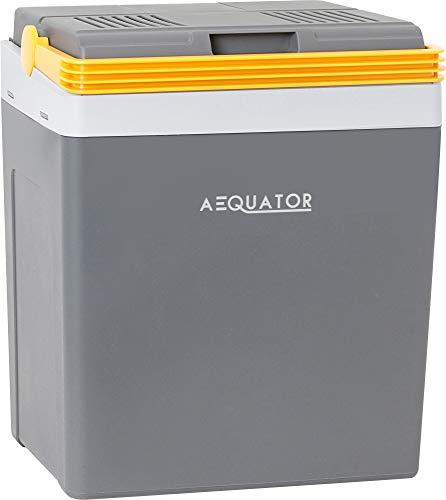 Aequator Tragbarer Kühlschrank, tragbare thermo-elektrische Kühlbox, 24 Liter, 12 V und 230 V für Auto, Thermoelektrische Kühlbox mit Kühl- und Warmhaltefunktion, für Auto, Boot und Camping, Steckdose