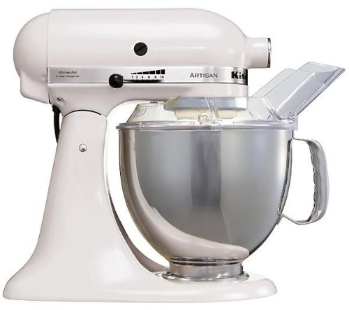 Kitchenaid 5KSM150PSEWH - Batidora amasadora, color blanco