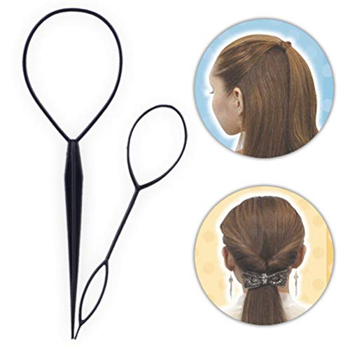 VCB Boucle de Cheveux Styling Tool Ponytail Bun Maker Hair Bun Maker Clip Hair Braid - Rose Rouge