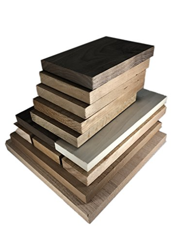 Hardwood Lumber Assortment - Mixed Species - Large Box of Hobby Wood – Perfect Boards – Clear Lumber. NO Scrap, Defects, Knots, and/or End Checks. Lumber Perfect for Odds and Ends.