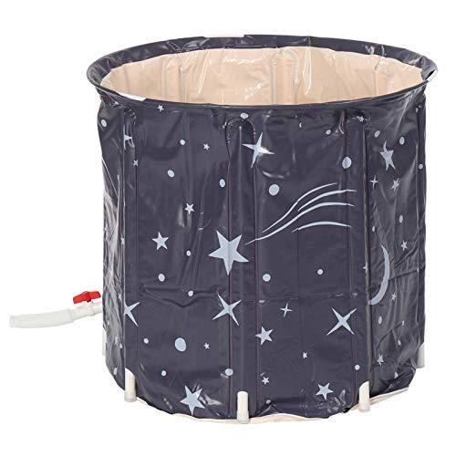 PPLAS Bañera Plegable Engrosada Adulto bañera Inflable hogar Soltero SPA Masaje Piscina plástico Cubo plástico (Color : Star)