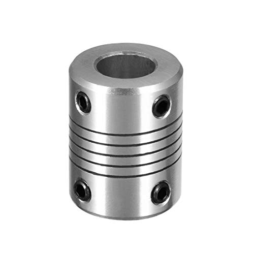 uxcell 6mm to 10mm Aluminium Alloy Shaft Coupling Flexible Coupler Motor Connector Joint L25xD18 Silver