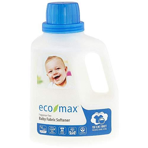 Eco-Max Suavizante de tela para ropa de bebé, sin fragancia, 1,5 l
