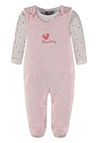 Kanz Mädchen Strampler + T-Shirt 1/1 Arm 1832201, Rosa (Cradle Pink Melange 8420), 68