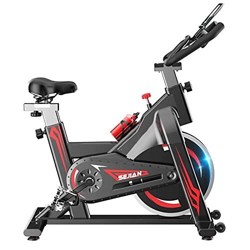 Spinning Bike Bicicleta Estática para El Hogar, Bicicleta De Ciclismo Indoor Estacionaria con Resistencia Ajustable, Equipo De Fitness Home Studio Gym, Negro