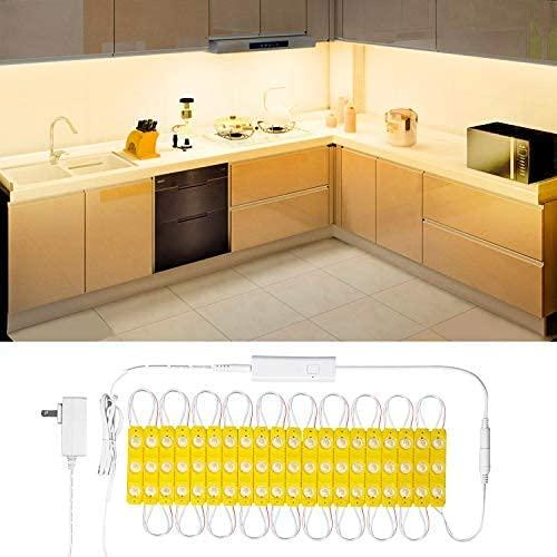 Wobsion LED Warmweiß LED Streifen mit 60 Leds, Helle Lichtleiste mit Drahtlose Fernbedienung, led leiste für Bad spiegel beleuchtung, sschminktisch beleuchtung, küchen led beleuchtung,Wasserdicht IP65
