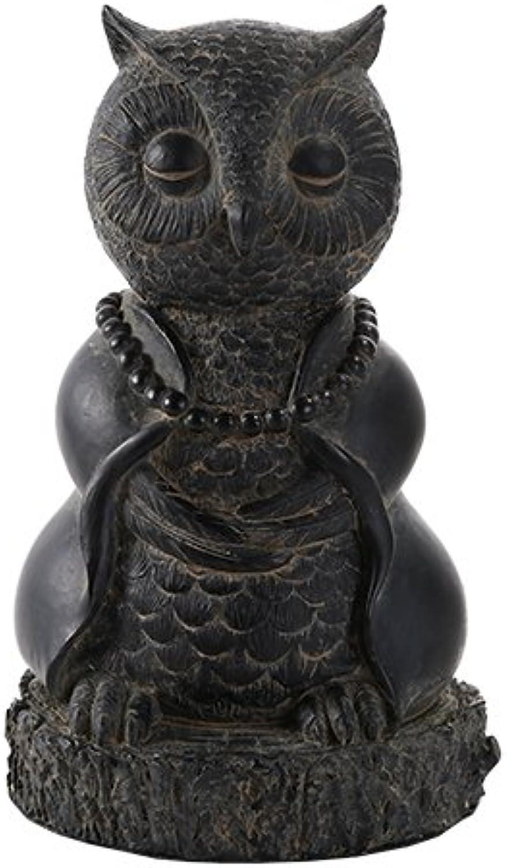 más descuento Pacific Pacific Pacific Giftware Búho meditando Buda Estatua Figura Decorativa  caliente