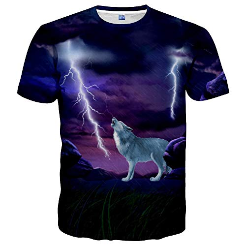 cneWID Unisex 3D Colorful Print Graphic Tee Shirts for Men Women and Teens Style 52 XL