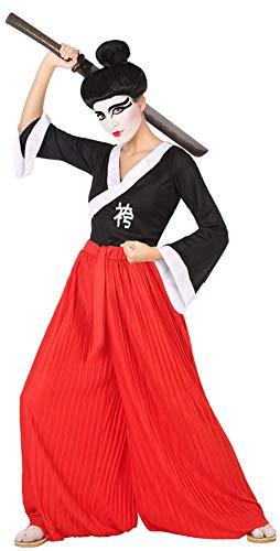 Atosa-53869 Disfraz Japonés, Color Rojo, XS-S (53869