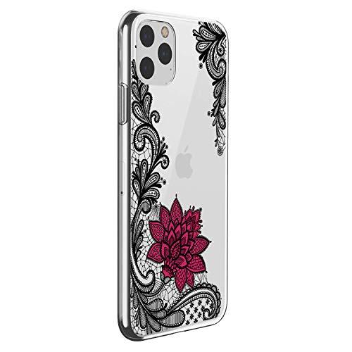 Oihxse Mandala Flores Encaje Patrón Serie Case Compatible con iPhone 12 5.4'' 2020 Funda TPU Silicona Suave Protector Ultra Slim Anti-Rasguño Transparente Carcasa (A2)