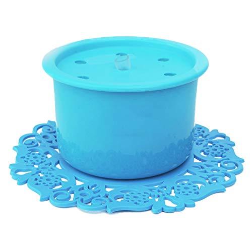 CWYSJ Fontaine d'eau Chat Chien Fleur Filtre, 1L Fontaine Automatique avec Filtre Ultra-Silencieuse en Forme de Fleur en Résine Abreuvoir Filtre Fontaine-Bleu