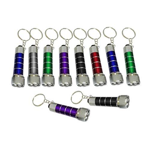 GARNECK 10 stücke Mini Taschenlampe kreative 5 led leistungsstarke Taschenlampe schlüsselanhänger Taschenlampe Keychain für Kinder zufällige Farbe