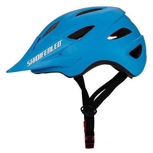 Casco para bicicleta Peso ligero Proceso de una pieza Sombrero para el sol Diseño de desvío Seguridad Protección Adecuado para Bicicleta de carretera Ciclismo de montaña BTT Hombres y mujeres,Blue