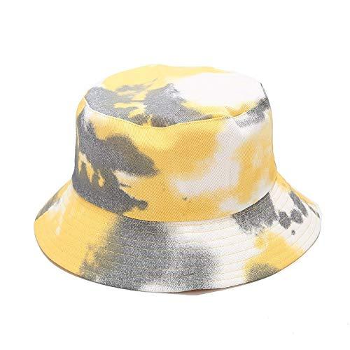 GLGSHOULIAN - Sombrero de pescador para mujer, visera simple, informal, sombreros para el sol, sombrero, para mujer, color amarillo, a la moda, monopatín, para el sol, pescador, montañismo, re