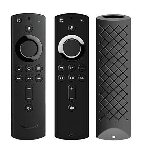 Capa remota/capa para controle remoto F TV Stick 4K, HJYuan Silicone para controle remoto F TV Cube/F TV (3ª geração) compatível com todos os controles remotos Alexa Voice de 2ª geração, 1 Pack Black