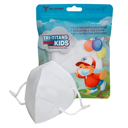TRITITANS Kids  5 Layer Disposable/Non Reusable MASK w Adjustable Ear Loops 5 Masks