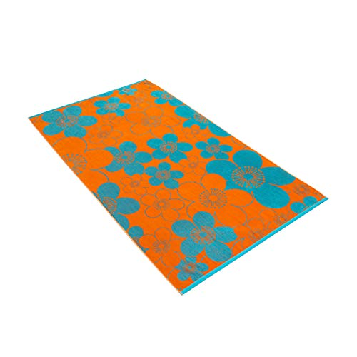 Vossen Flower Mood orange, 100 x 180 cm