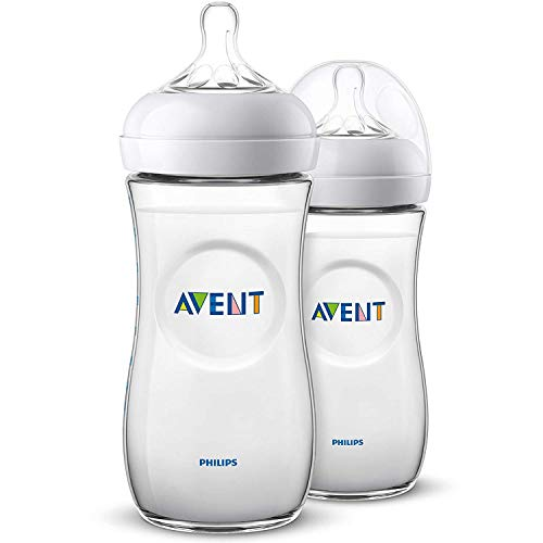 Philips Avent SCF036/27 - Biberón natural de 330 ml, Pack de 2 biberones, transparente