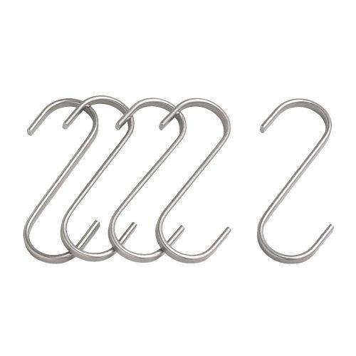 IKEA GRUNDTAL - S-hook, stainless steel / - 7 cm 5 pack by Ikea
