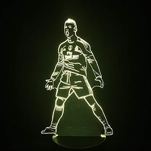 Fútbol movilización ilusión lámpara de Mesa fútbol decoración del hogar Dormitorio Humor lámpara Nuevo extraño Nave Espacial Regalo