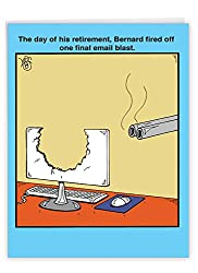 The day of his retirement Bernard fired off one final email blast